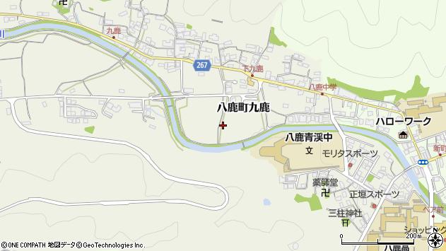 〒667-0031 兵庫県養父市八鹿町九鹿の地図