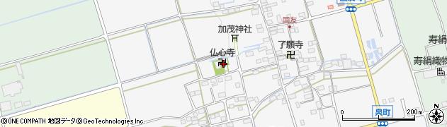 仏心寺周辺の地図