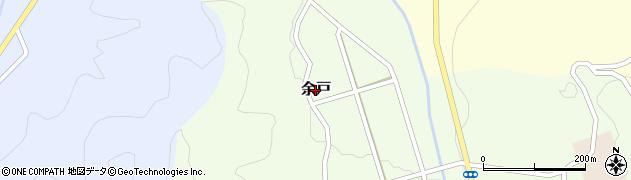 鳥取県三朝町(東伯郡)余戸周辺の地図