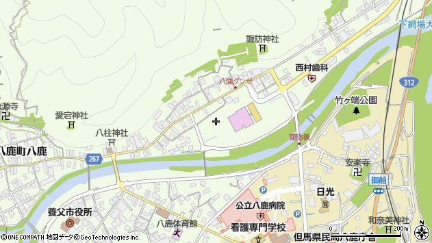 〒667-0021 兵庫県養父市八鹿町八鹿の地図