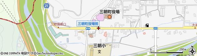 三朝役場前周辺の地図