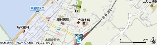 島根県松江市宍道町宍道周辺の地図
