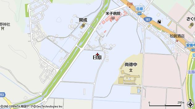 〒683-0015 鳥取県米子市日原の地図