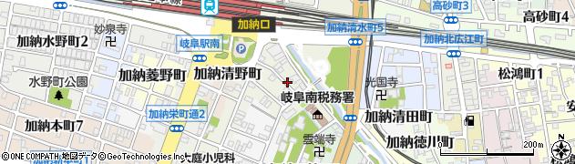 岐阜県岐阜市加納清水町周辺の地図