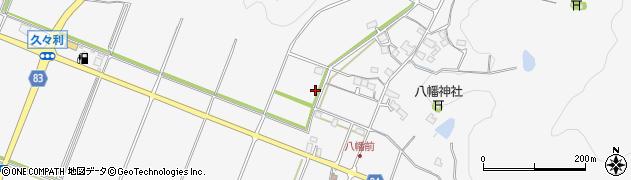 岐阜県可児市久々利周辺の地図