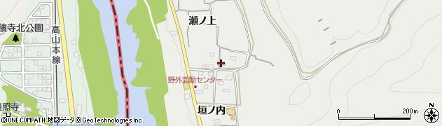 愛知県犬山市栗栖(瀬ノ上)周辺の地図
