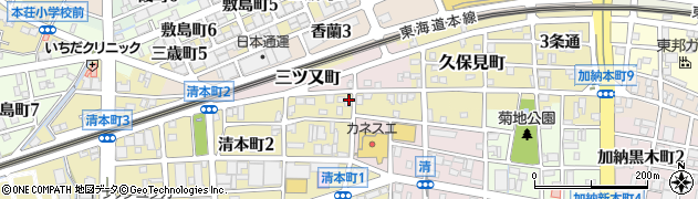岐阜県岐阜市松原町周辺の地図