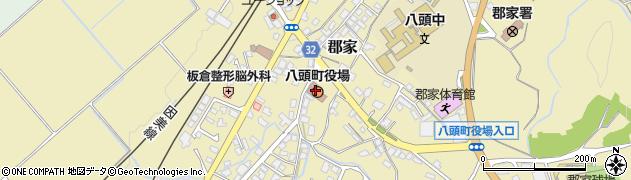 鳥取県八頭町(八頭郡)周辺の地図