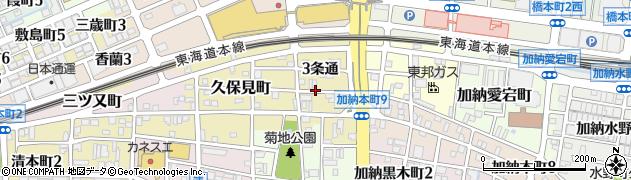 岐阜県岐阜市南本荘(2条通)周辺の地図