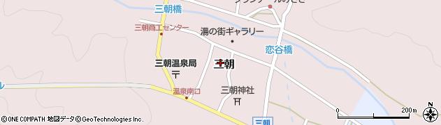 鳥取県三朝町(東伯郡)三朝周辺の地図