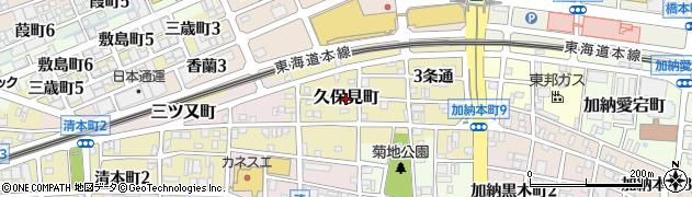 岐阜県岐阜市久保見町周辺の地図