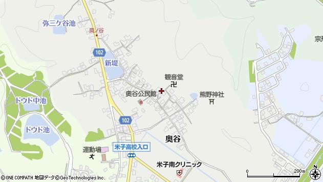 〒683-0016 鳥取県米子市奥谷の地図