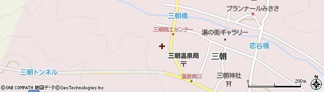 三朝温泉後楽周辺の地図