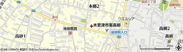 千葉県木更津市本郷周辺の地図