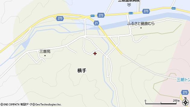 〒682-0125 鳥取県東伯郡三朝町徳本の地図
