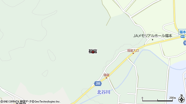 〒682-0605 鳥取県倉吉市福富の地図