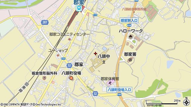 〒680-0461 鳥取県八頭郡八頭町郡家の地図