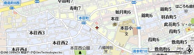 岐阜県岐阜市本荘町周辺の地図
