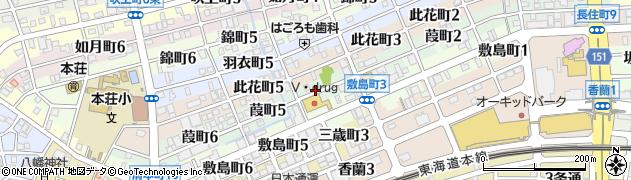 岐阜県岐阜市葭町周辺の地図