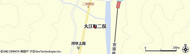 京都府福知山市大江町二俣周辺の地図