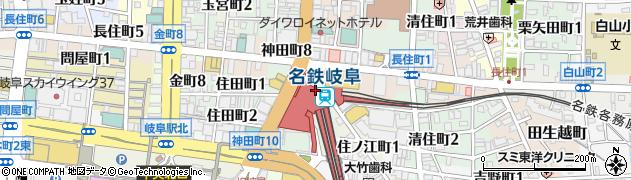 岐阜県岐阜市周辺の地図