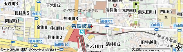 岐阜県岐阜市長住町周辺の地図