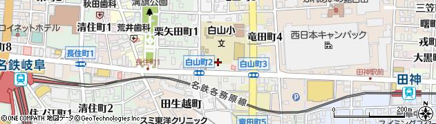 岐阜県岐阜市白山町周辺の地図