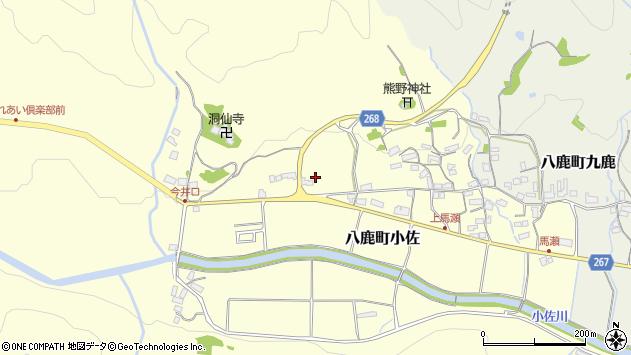 〒667-0053 兵庫県養父市八鹿町小佐の地図