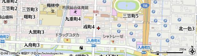 岐阜県岐阜市戎町周辺の地図