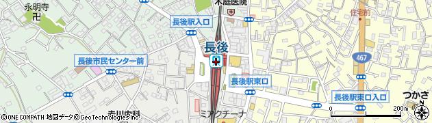 神奈川県藤沢市周辺の地図