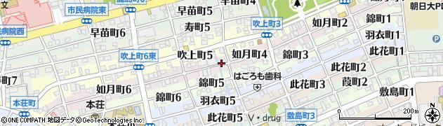 岐阜県岐阜市如月町周辺の地図