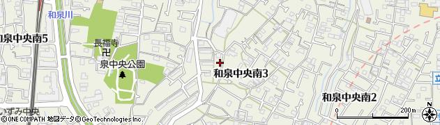 神奈川県横浜市泉区和泉中央南周辺の地図