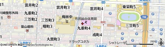 岐阜県岐阜市九重町周辺の地図