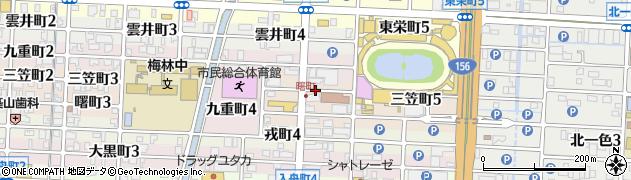 岐阜県岐阜市三笠町周辺の地図