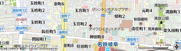 岐阜県岐阜市羽根町周辺の地図