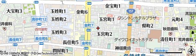 岐阜県岐阜市西玉宮町周辺の地図