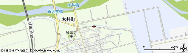 滋賀県長浜市大井町周辺の地図