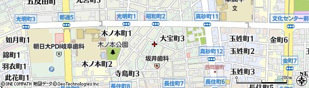 岐阜県岐阜市寺島町周辺の地図