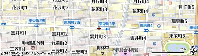 岐阜県岐阜市東栄町周辺の地図