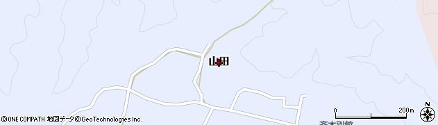 鳥取県三朝町(東伯郡)山田周辺の地図
