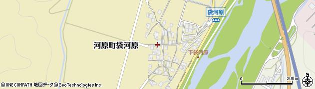 鳥取県鳥取市河原町袋河原周辺の地図