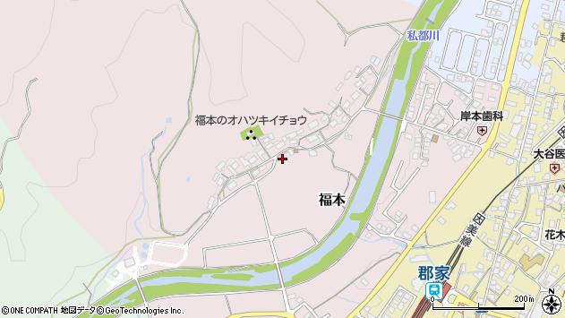 〒680-0462 鳥取県八頭郡八頭町福本の地図