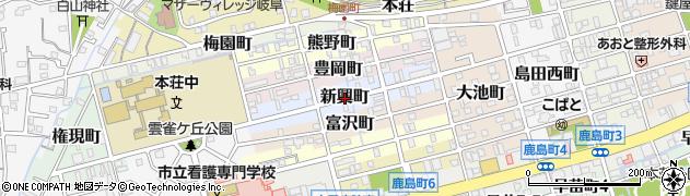 岐阜県岐阜市新興町周辺の地図