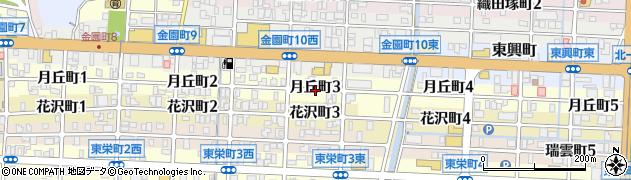 岐阜県岐阜市月丘町周辺の地図