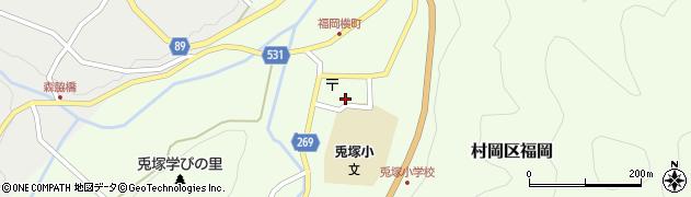 理容白岩周辺の地図