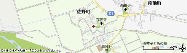 滋賀県長浜市佐野町周辺の地図