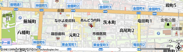 岐阜県岐阜市東駒爪町周辺の地図