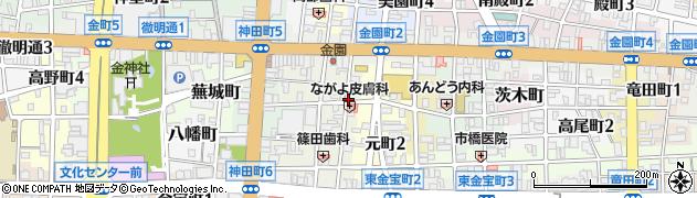 岐阜県岐阜市霞町周辺の地図