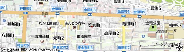 岐阜県岐阜市茨木町周辺の地図
