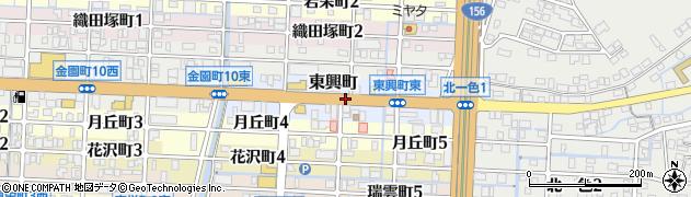 岐阜県岐阜市東興町周辺の地図